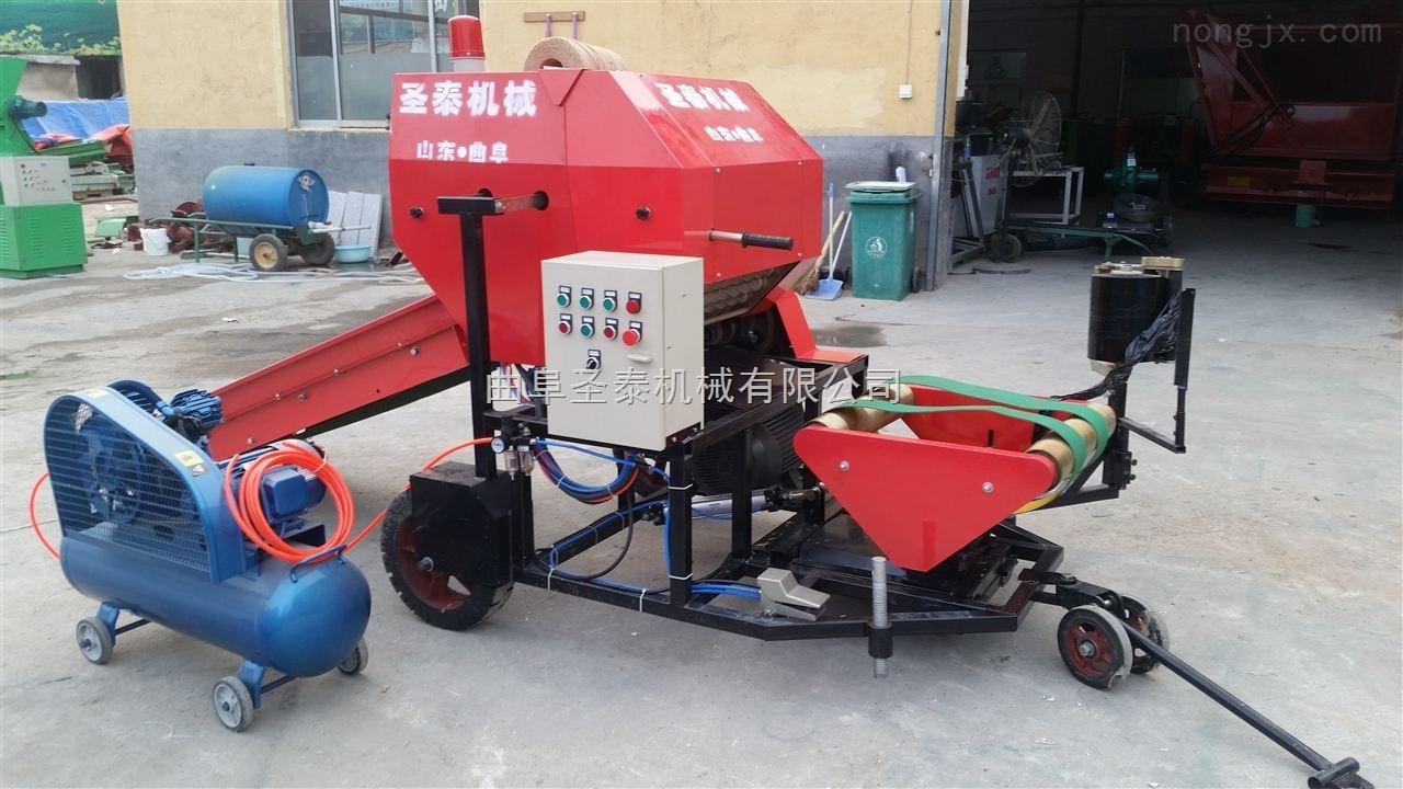 饲料打包机使用制作方法 发酵青饲料包装机