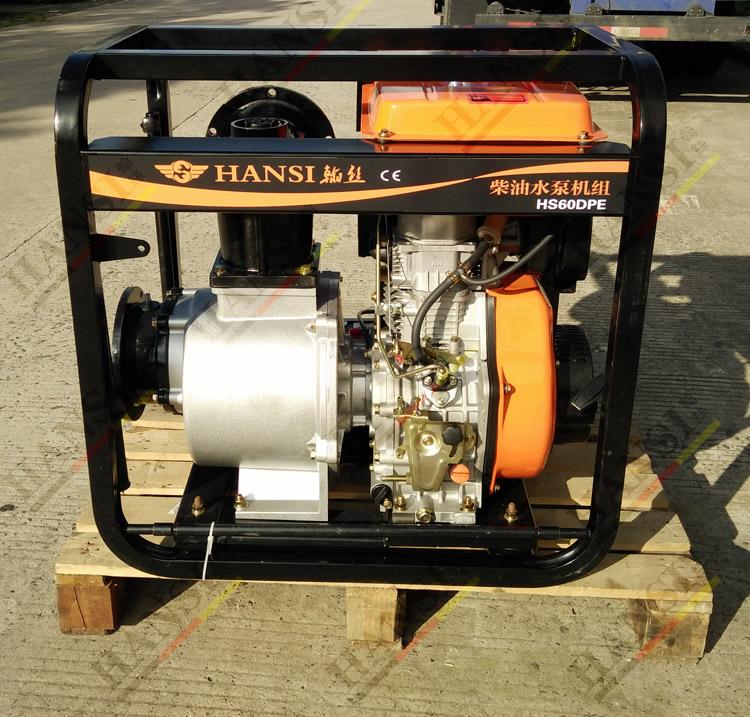 6寸柴油抽水泵 产品概述: HANSI系列卧式自吸水泵泵该型式泵与其它型式的自吸离心泵比较,因为泵本身没 有逆止阀,结构最为简单;工作最为可靠;无 故障工作时间长,维护、使用方便、体积小、 重量轻、效率高、在设计上做了特别的考虑与 相同口径的泵比较,排量大、性能高。 HANSI型自吸泵在工农业生产、抢险救助,如排涝、救火中作为应急泵使用效能更为突出。 HANSI型泵广泛适用石 油、化工、冶金、机械、化纤、食品、能源、交通等工业部门城市给水、亦可用于农业排灌、 喷灌。供输送清水或粘度小于5°E,温度
